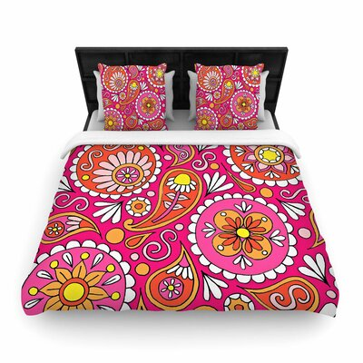 Sarah Oelerich Paisley Pop Woven Duvet Cover Size: Full/Queen