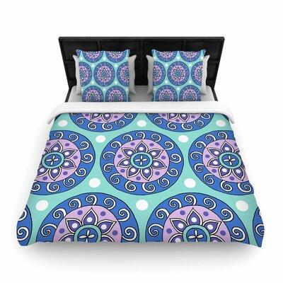 Sarah Oelerich Mandala Dot Woven Duvet Cover Size: Full/Queen