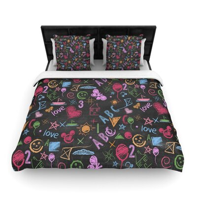 Snap Studio Kindergarden Crazy Woven Duvet Cover Size: Full/Queen