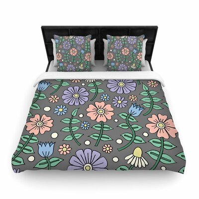 Sarah Oelerich Early Spring Woven Duvet Cover Size: King