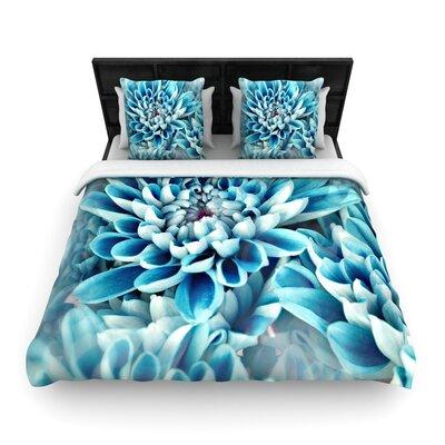 Susan Sanders Floral Paradise Flower Woven Duvet Cover Size: King