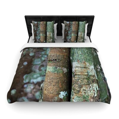 Susan Sanders into the Woods Rustic Woven Duvet Cover Size: Twin