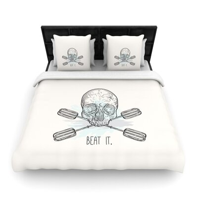 Sam Posnick Beat It Illustration Woven Duvet Cover Size: King