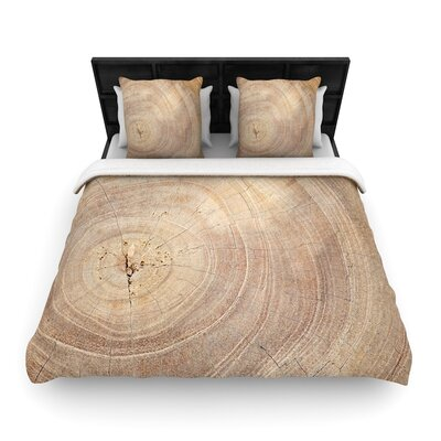 Susan Sanders Aging Tree Wooden Woven Duvet Cover Size: King