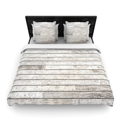Susan Sanders Wooden Walk Woven Duvet Cover Size: King