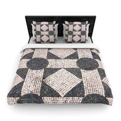 Susan Sanders Mosaic Woven Duvet Cover Size: Twin