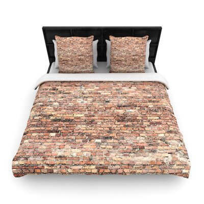 Susan Sanders Rustic Bricks Woven Duvet Cover Size: King
