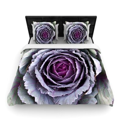 Susan Sanders Flower Love Woven Duvet Cover Size: Twin
