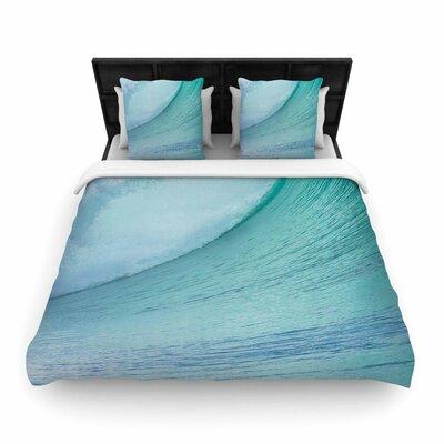 Susan Sanders Ocean Wave Woven Duvet Cover Size: King