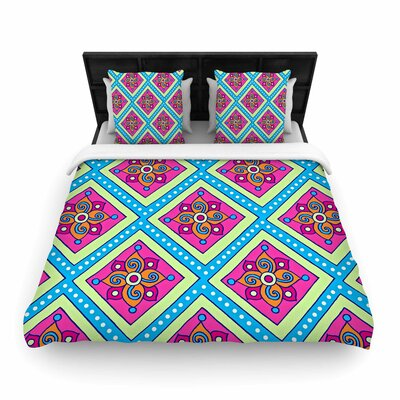 Sarah Oelerich Diamonds Woven Duvet Cover Size: Twin