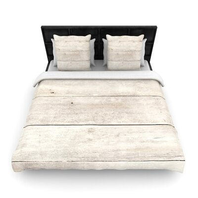 Susan Sanders Wash Wood Woven Duvet Cover Size: Twin