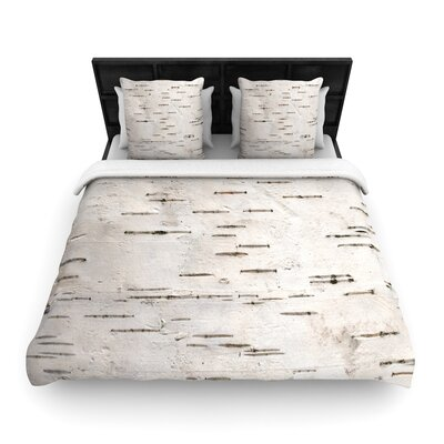 Susan Sanders Painted Tree Rustic Woven Duvet Cover Size: Full/Queen