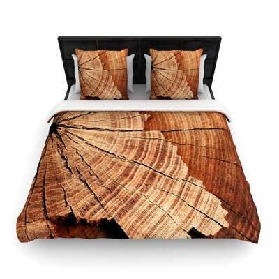 Susan Sanders Rustic Dream Wood Woven Duvet Cover Size: King