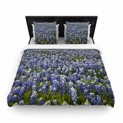 Susan Sanders Flower Fields Photography Woven Duvet Cover Size: King