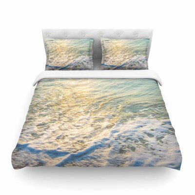 Susan Sanders Ocean Beach Water Photography Featherweight Duvet Cover Size: Twin