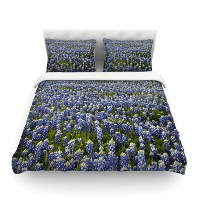Susan Sanders Flower Fields Photography Featherweight Duvet Cover Size: King