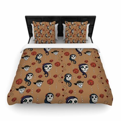 Stephanie Vaeth Calaveras Woven Duvet Cover Size: King