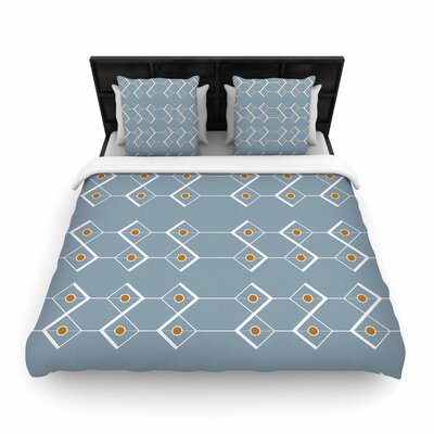 Stephanie Vaeth Diamonds Modern Woven Duvet Cover Size: Twin