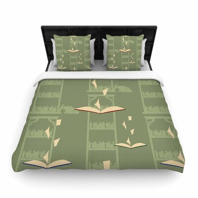Stephanie Vaeth Library Digital Woven Duvet Cover Size: Full/Queen