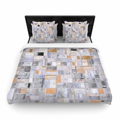 Susan Sanders Tile Squares Photography Woven Duvet Cover Size: Full/Queen