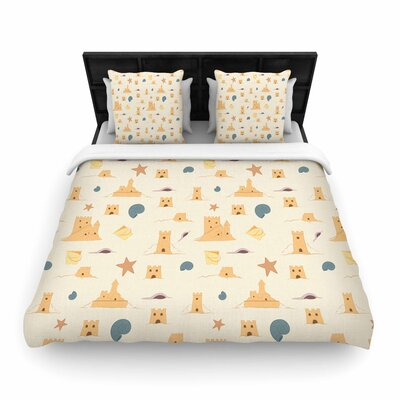 Stephanie Vaeth Sandcastles Woven Duvet Cover Size: Full/Queen
