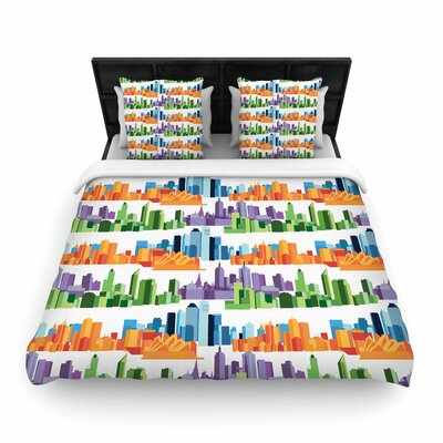 Stephanie Vaeth Australian Cities Woven Duvet Cover Size: King