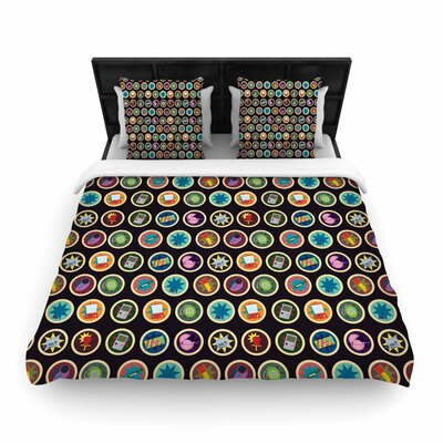 Stephanie Vaeth Toys, Games & Candy Pattern Woven Duvet Cover Size: King