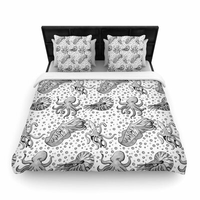 Stephanie Vaeth Cephalopods Woven Duvet Cover Size: King