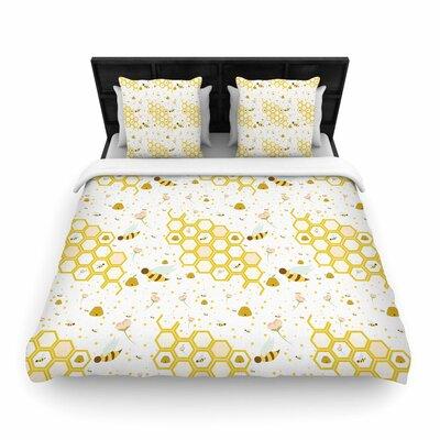 Stephanie Vaeth Honey Bees Woven Duvet Cover