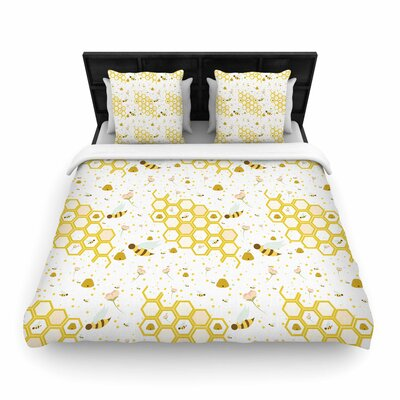 Stephanie Vaeth Honey Bees Woven Duvet Cover Size: Full/Queen
