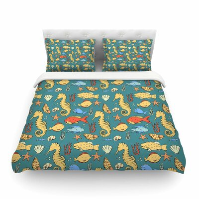 Stephanie Vaeth under the Sea Illustration Featherweight Duvet Cover Size: King