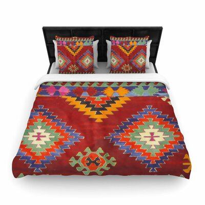 S Seema Z Tapestry Ethnic Pattern Woven Duvet Cover Size: Twin