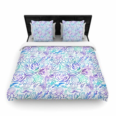Noonday Design Floral Explosion Floral Pattern Woven Duvet Cover Size: Full/Queen