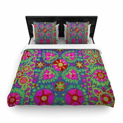 S Seema Z Kashmeer Love Pattern Woven Duvet Cover Size: Full/Queen