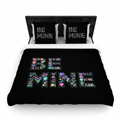 Noonday Design Be Mine Love Woven Duvet Cover Size: Twin