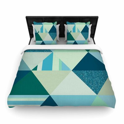 Noonday Design The Triangle Geometric Woven Duvet Cover