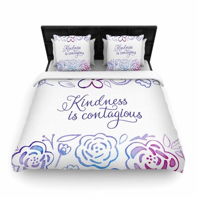 Noonday Design Kindness Is Contagious Woven Duvet Cover Size: Twin
