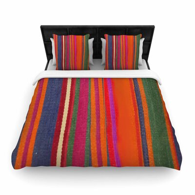 S Seema Z Line Art Woven Duvet Cover Size: Twin