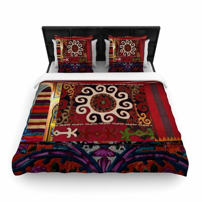 S Seema Z Burst of Diverse Ethnic Woven Duvet Cover Size: King