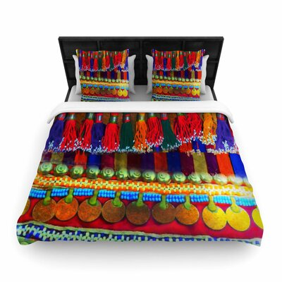 S Seema Z Boho Mania Ethnic Woven Duvet Cover Size: King