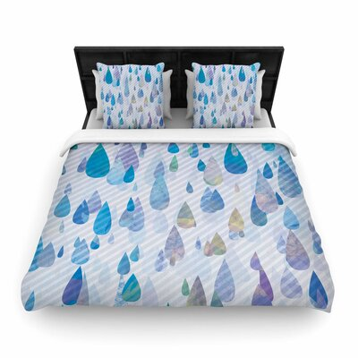 Noonday Design Rain Storm Digital Woven Duvet Cover Size: King
