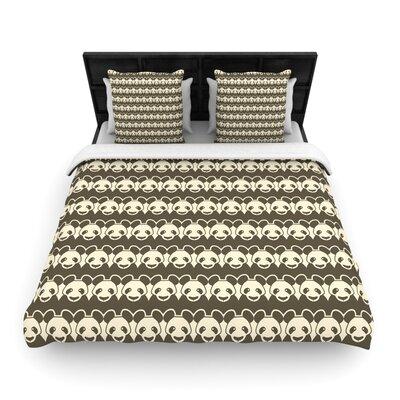 Tobe Fonseca Panddern Panda Pattern Woven Duvet Cover Size: Full/Queen
