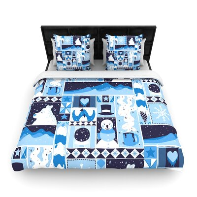 Tobe Fonseca Winter Seasonal Woven Duvet Cover Size: King