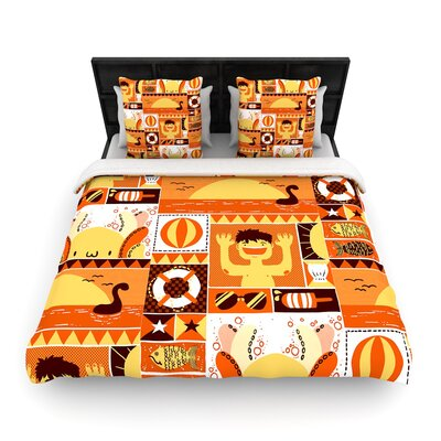 Tobe Fonseca Summer Seasonal Woven Duvet Cover Size: King