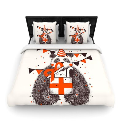 Tobe Fonseca Happy Birthday Woven Duvet Cover Size: Full/Queen