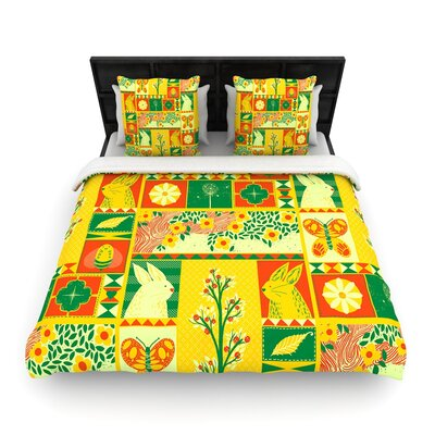 Tobe Fonseca Spring Seasonal Woven Duvet Cover Size: King