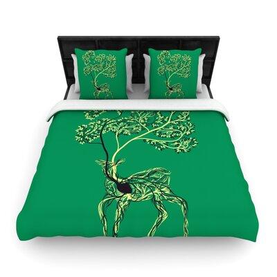 Tobe Fonseca Nectar Deer Woven Duvet Cover Size: King