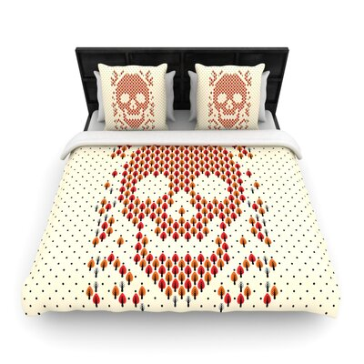 Tobe Fonseca Deforestation Skull Illustration Woven Duvet Cover Size: Full/Queen