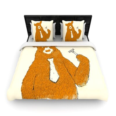 Tobe Fonseca Work Bear Woven Duvet Cover Size: Twin