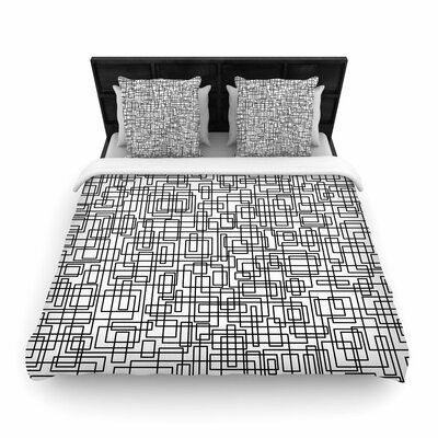 Trebam Komada V.2 Woven Duvet Cover Color: White, Size: King